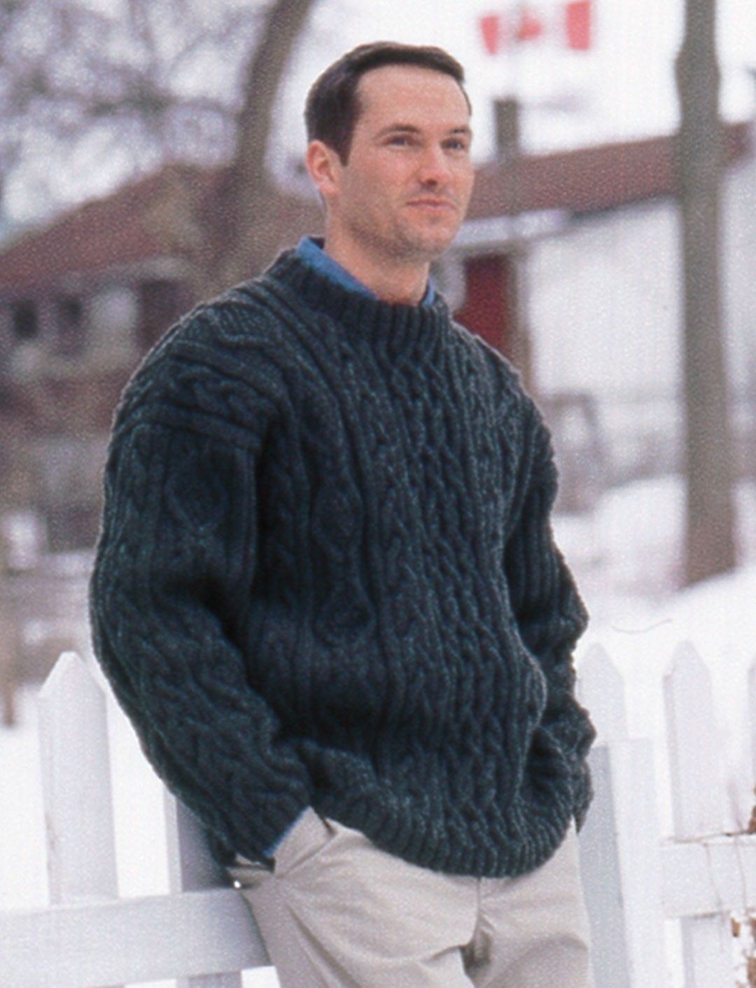 Yarnspirations.com - Patons Cabled Crew Neck - Patterns ...