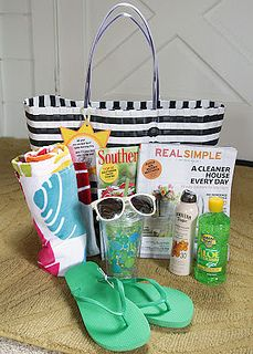 End Of The Year Teacher Gifts Beach Gift Baskets Themed Vacation