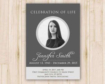 Easy Customizable Funeral Program Card Template Get Your Copy Now