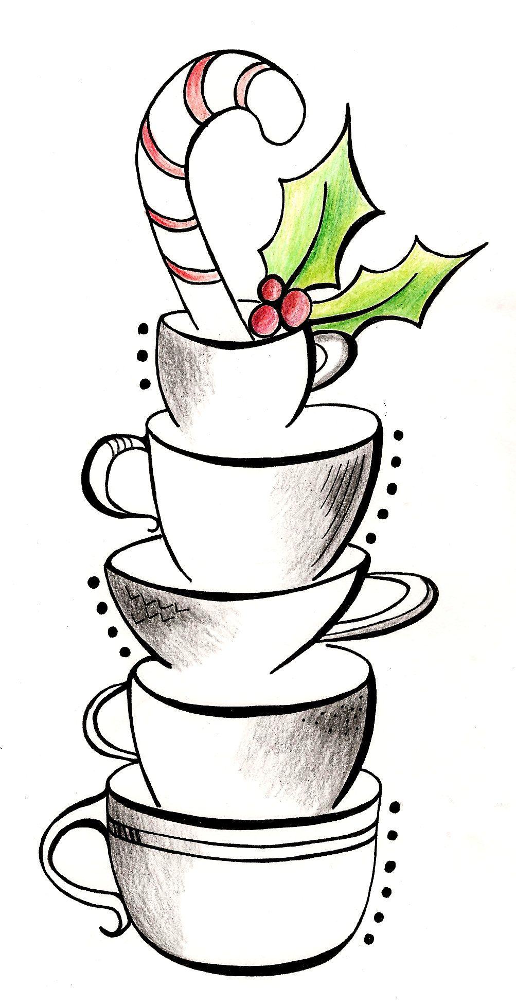 Medium Crop Of Christmas Drawing Ideas