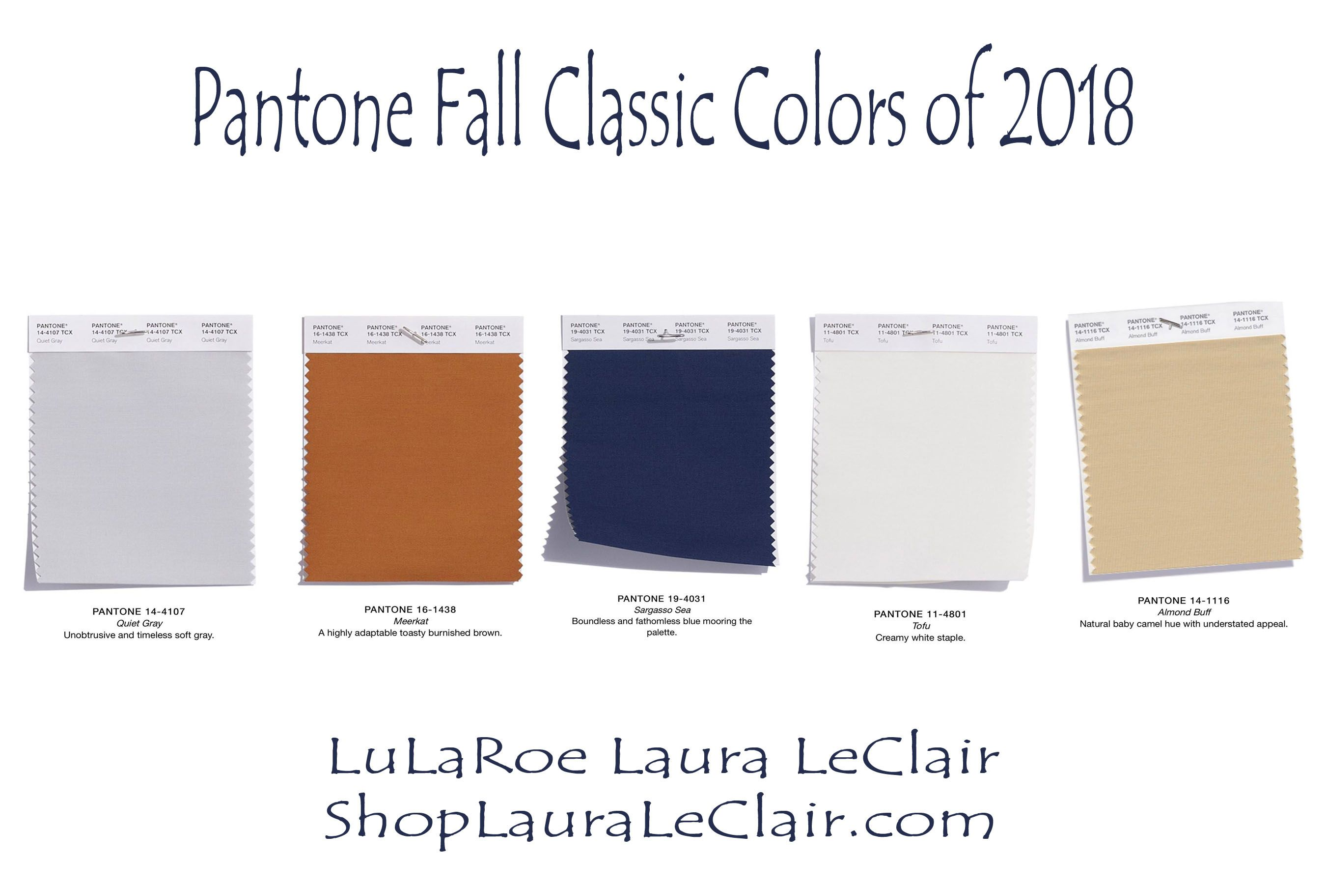 979b342a63d9a Check out the Pantone Classic colors chosen for Fall Winter 2018! Such  great neutrals! The Sargasso Sea, and quiet grey are my favorite!