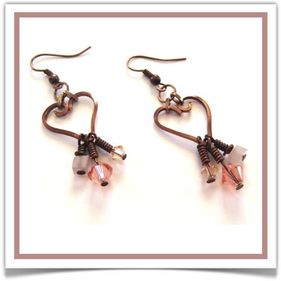 """One-of-a-Kind """"Heart Key"""" Earrings - Designed by Belle Bijou: http://www.bellebijoujewelry.com/store/detail/index.html#cid=93277"""