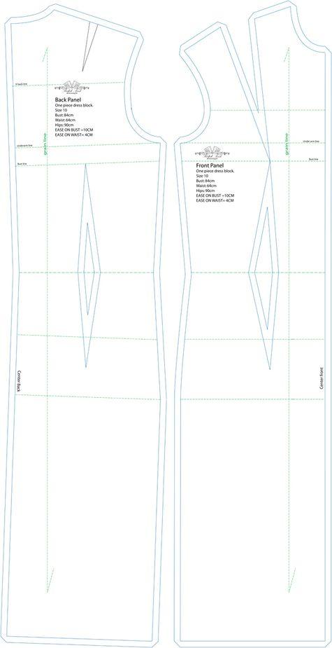 Basic Dress Pattern : basic, dress, pattern, Follow, Sewing, Design,, Fashion, Pattern,, Techniques