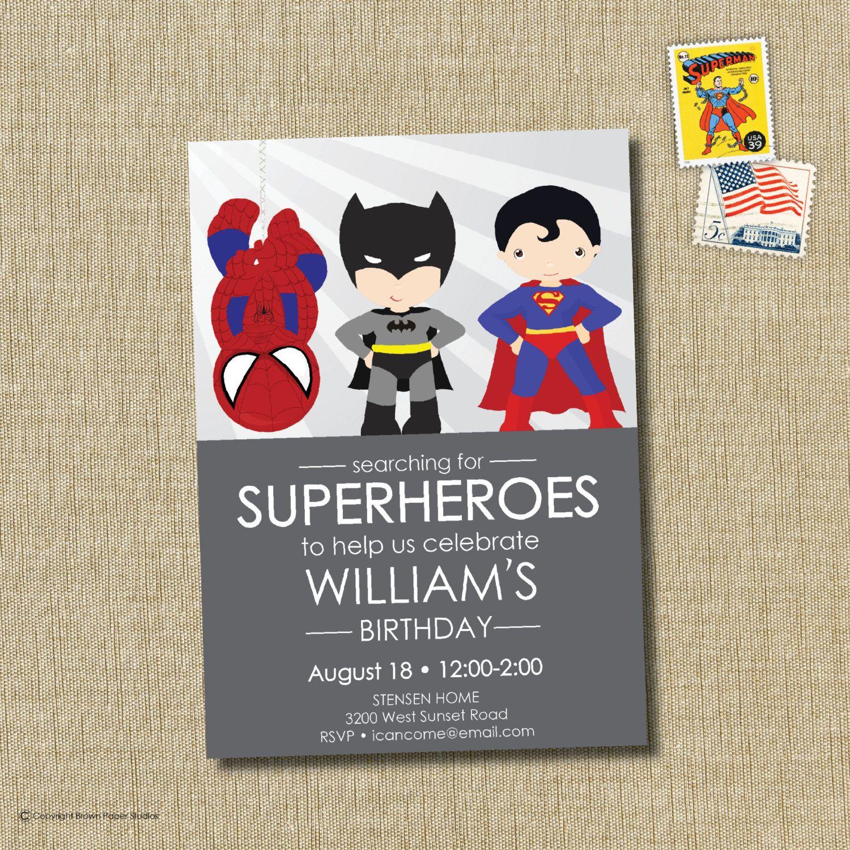 Berühmt Superhero Geburtstagseinladung Vorlagen Fotos - Entry Level ...