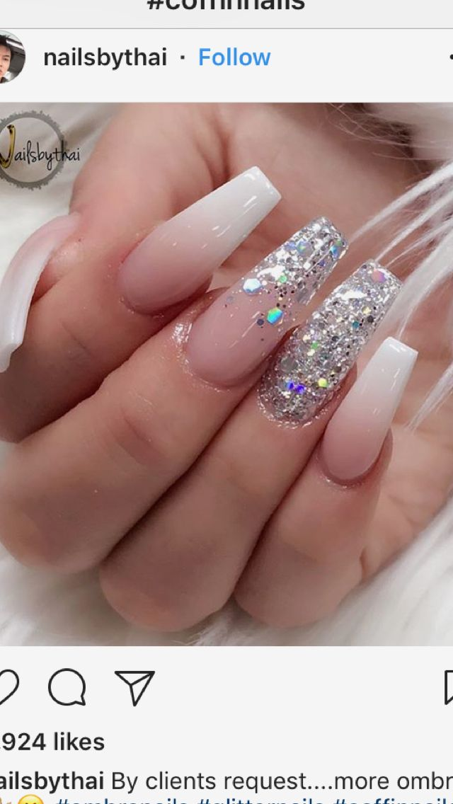 Pin By 5 Star Presidential Cleaning On Nail Ideas Prom Nails Best Acrylic Nails Cute Acrylic Nails