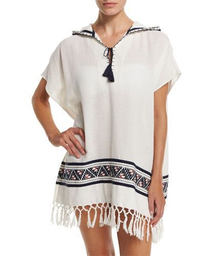 da29375d31 TORY BURCH Tory Burch Embroidered Beach Poncho Coverup With Hood.  toryburch   cloth