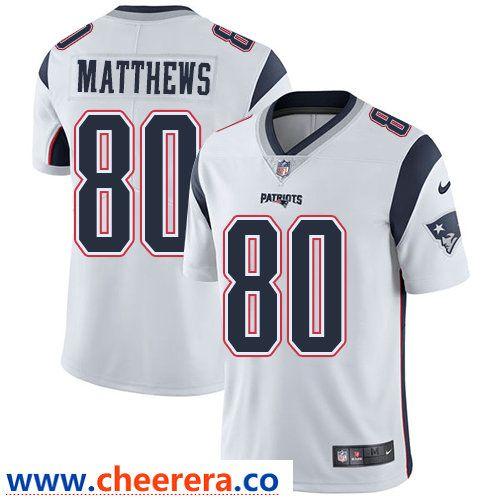 c5a790773 Nike New England Patriots  80 Jordan Matthews White Men s Stitched NFL  Vapor Untouchable Limited Jersey