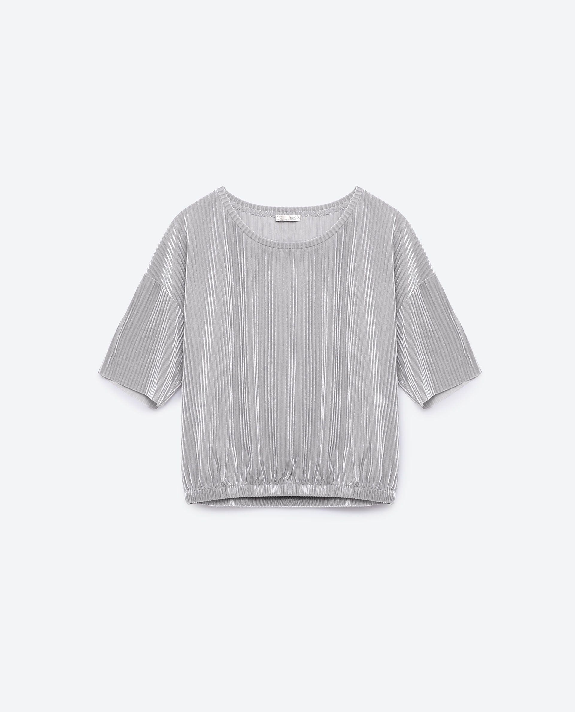 fdfcb11108 CROPPED VELVET T - SHIRT-NEW IN-WOMAN | ZARA Finland | Fashion ...