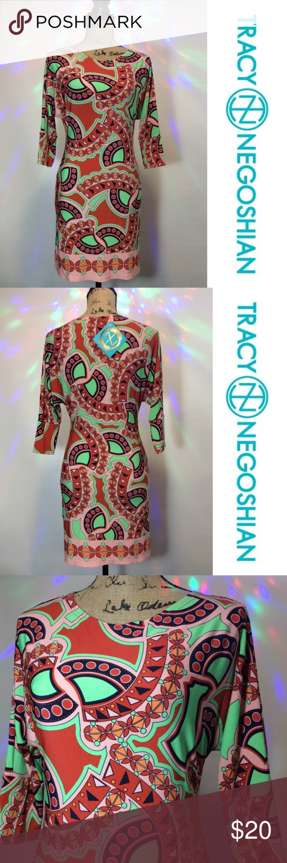 How To Include Taxidermy Into Trendy Home Decor: Tracy Negoshian Dress NWT 3/4 Sleeve Boutique (With Images)