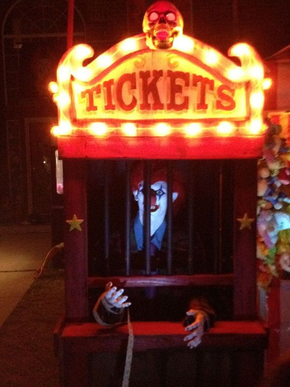 Haunted House Carnival Ticket Booth Halloween Decoration Prop Decor - halloween decoration themes