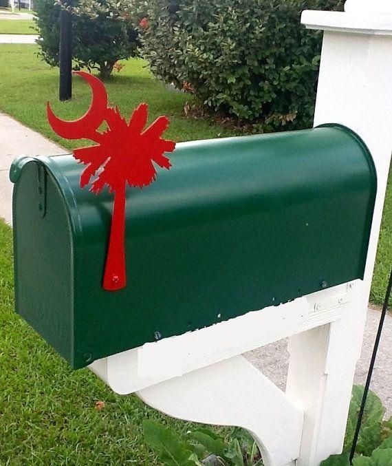 metal mailbox flag. Palmetto Tree Mailbox Flag Metal