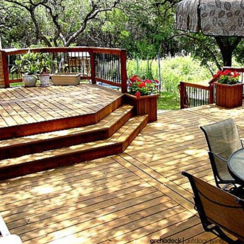 Best Cascading Deck Stairs Sometimes Referred To As Wrap 400 x 300