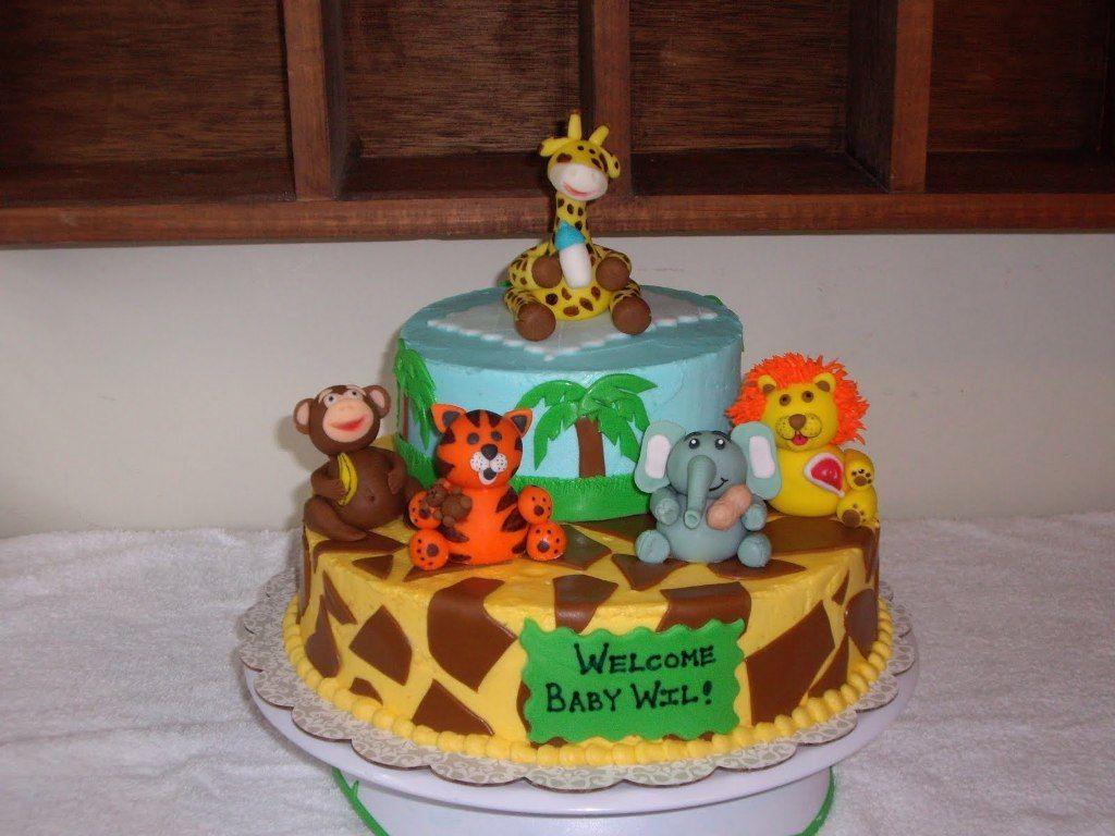 Birthday Cakes Jungle Theme ~ Jungle safari baby shower cake ideas g jungle cake