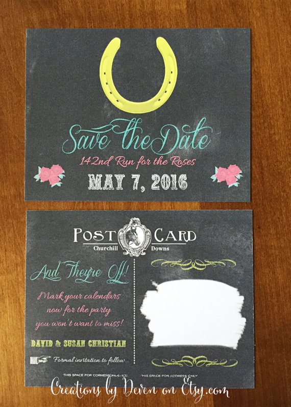 Kentucky Derby Party Save The Date Postcards Set Of 40 Kentucky