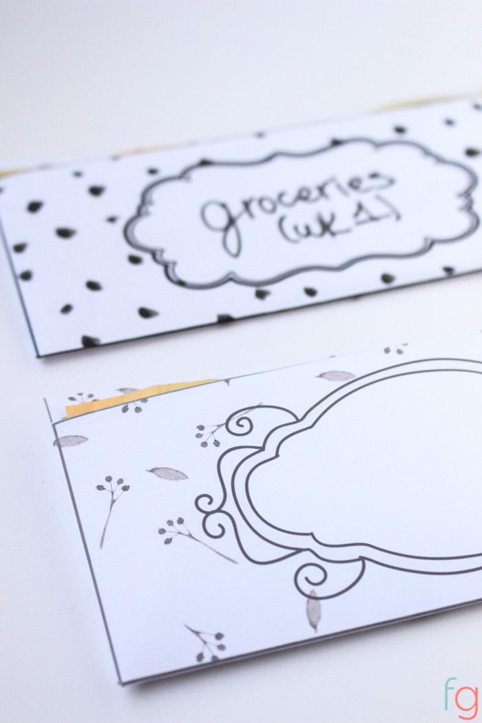 Free Budget Printables Free cash envelope template that will fit - cash template