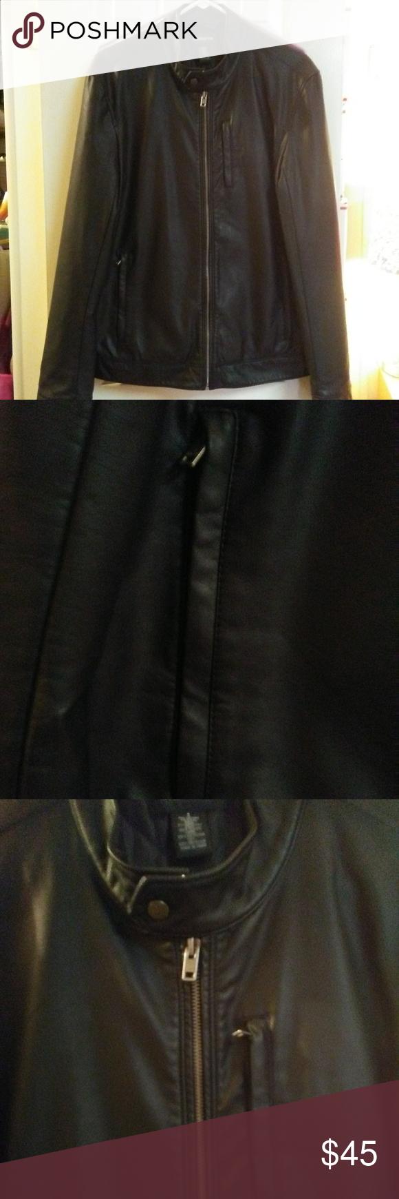 Euc Claiborne Faux Leather Moto Jacket In 2021 Leather Moto Jacket Vintage Leather Jacket Faux Leather Moto Jacket