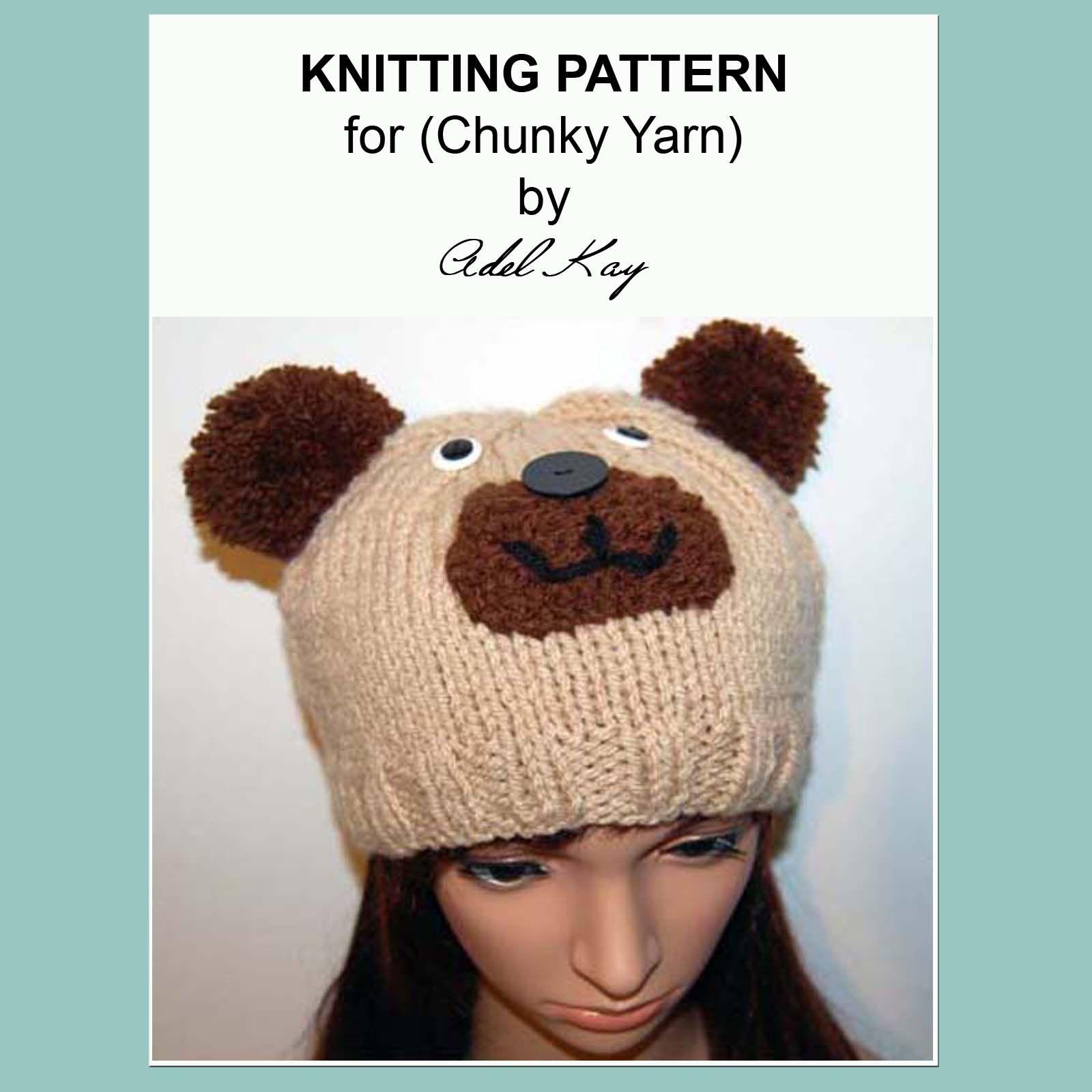 Logan teddy bear hat knitting pattern my knitting pattern logan teddy bear hat knitting pattern bankloansurffo Gallery