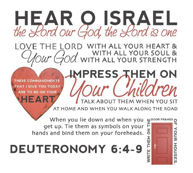 Image result for deuteronomy 6 4-9