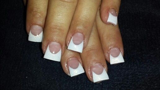 White nails with large smile lines.. I love it!