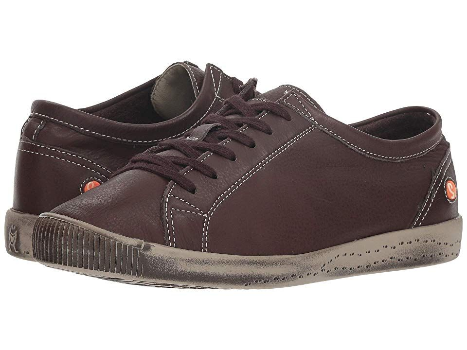 Fly london isla dark brown smooth leather womens lace