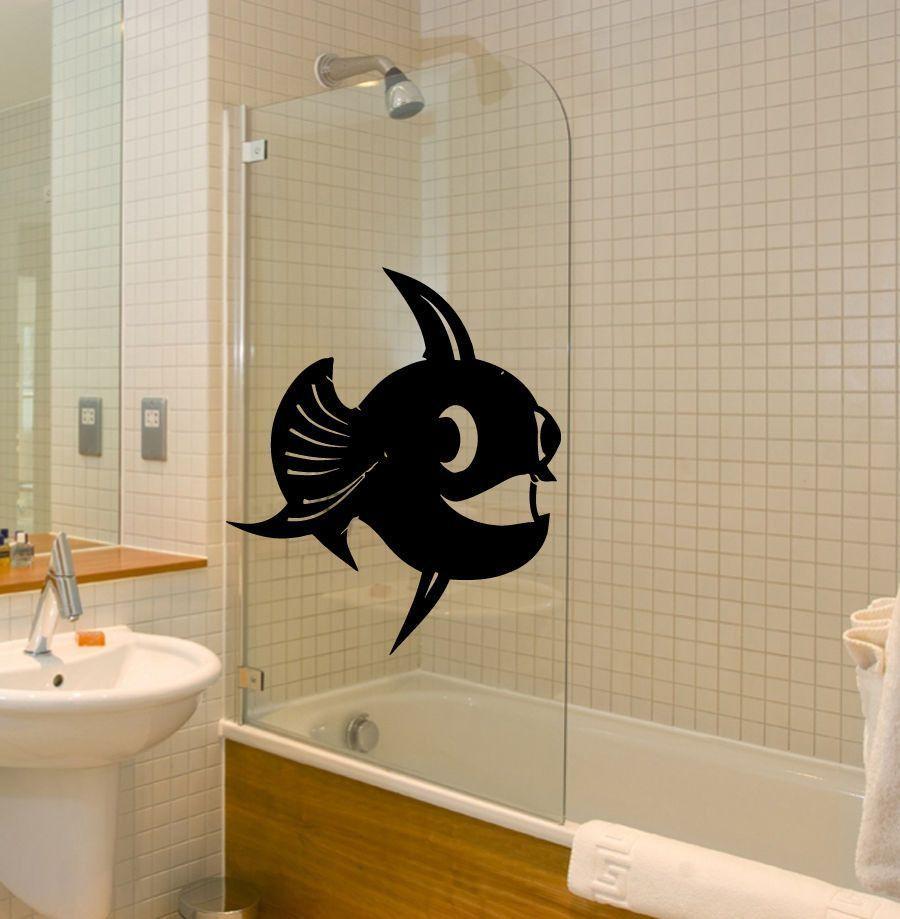 Wall Decals Vinyl Sticker Art Mural Bathroom Decor Fish
