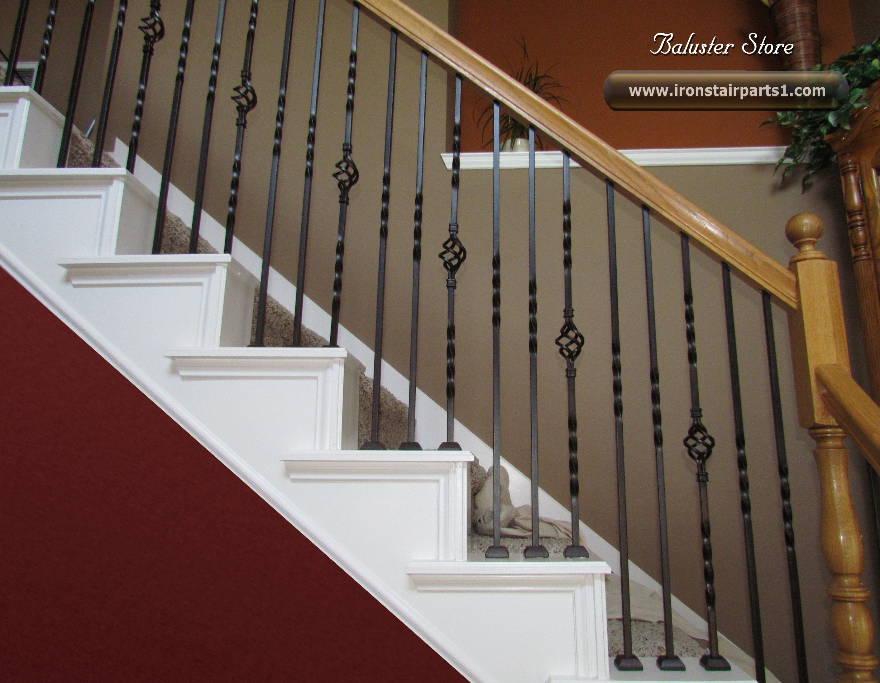 Superb Wrought Iron Spindles High Quality Powder Coated Iron Stair Parts Ironman