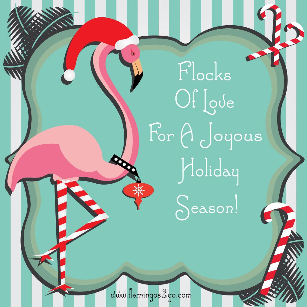 Flamingo Christmas Cards.Free Printable Fancy Flamingo Christmas Card Courtesy Of