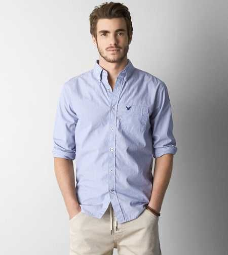 AEO Microstripe Button Down Shirt - Buy One Get One 50% Off ...