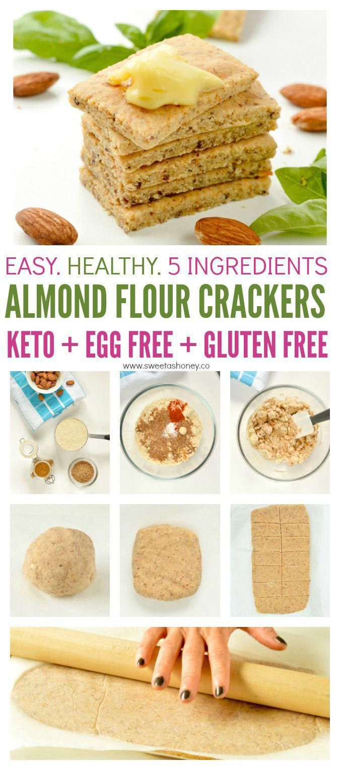 Almond flour crackers are easy keto snacks 100 % low carb, vegan ( no egg), paleo and grain free made with 5 simple ingredients. free