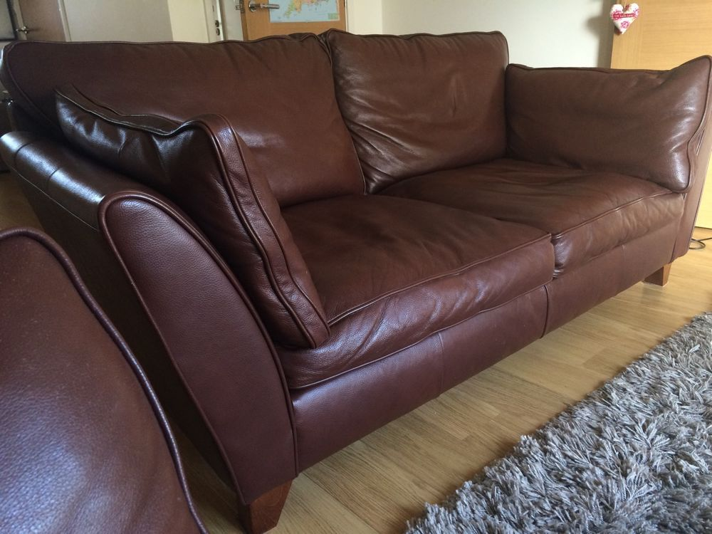 Barletta Sofa Western Style Throw Pair Of M S 2 Large Seater In Bronco Leather Dark Brown Home Furniture Diy Sofas Armchairs Suites Ebay