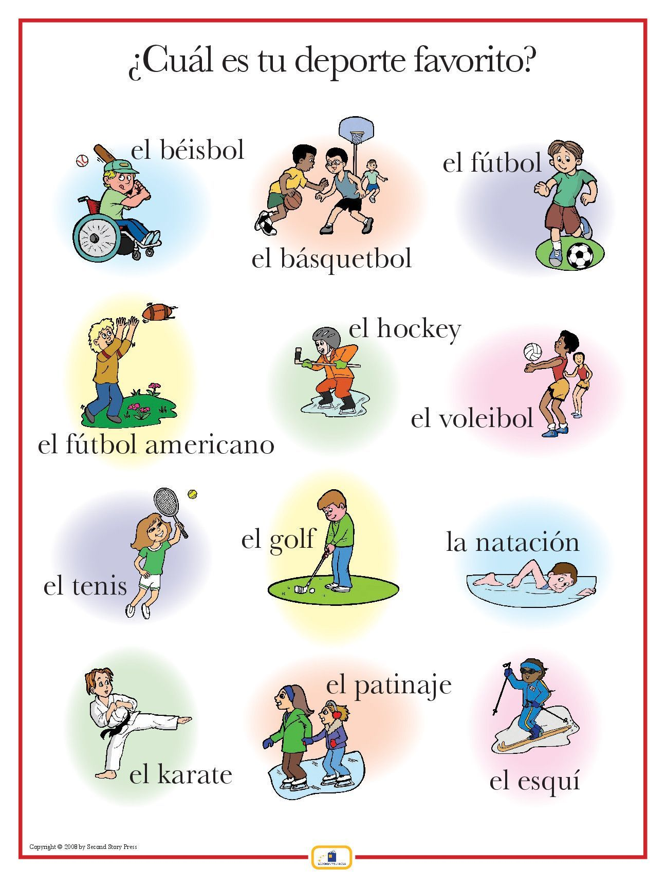 Introduce sports words with this colorful 18 x 24 in. poster that includes  a