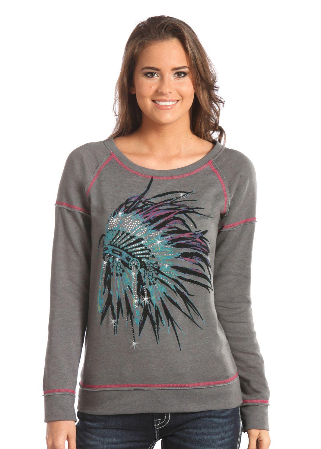 Download Indian Chief Sweatshirt | Panhandle Slim Tops from ...