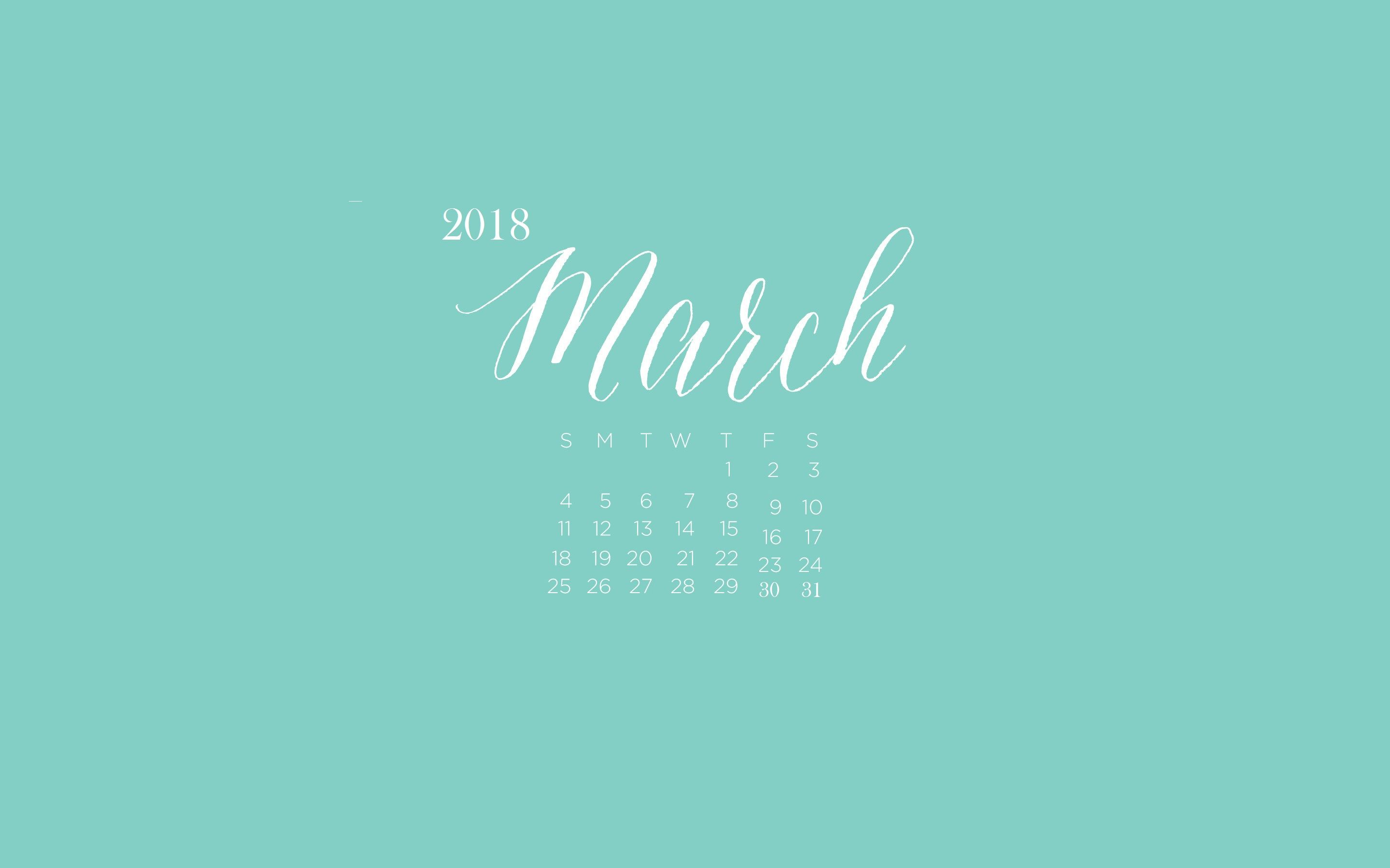 March 2018 Desktop Calendar Wallpaper Maxcalendars