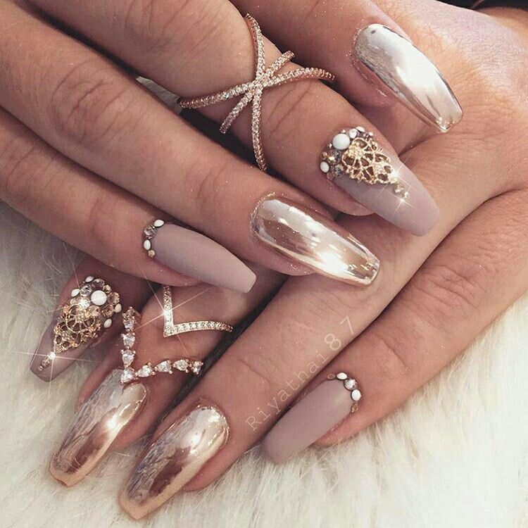 Pin by Alanna Nobles on Nails   Pinterest   Eyeshadows, Coffin nails ...
