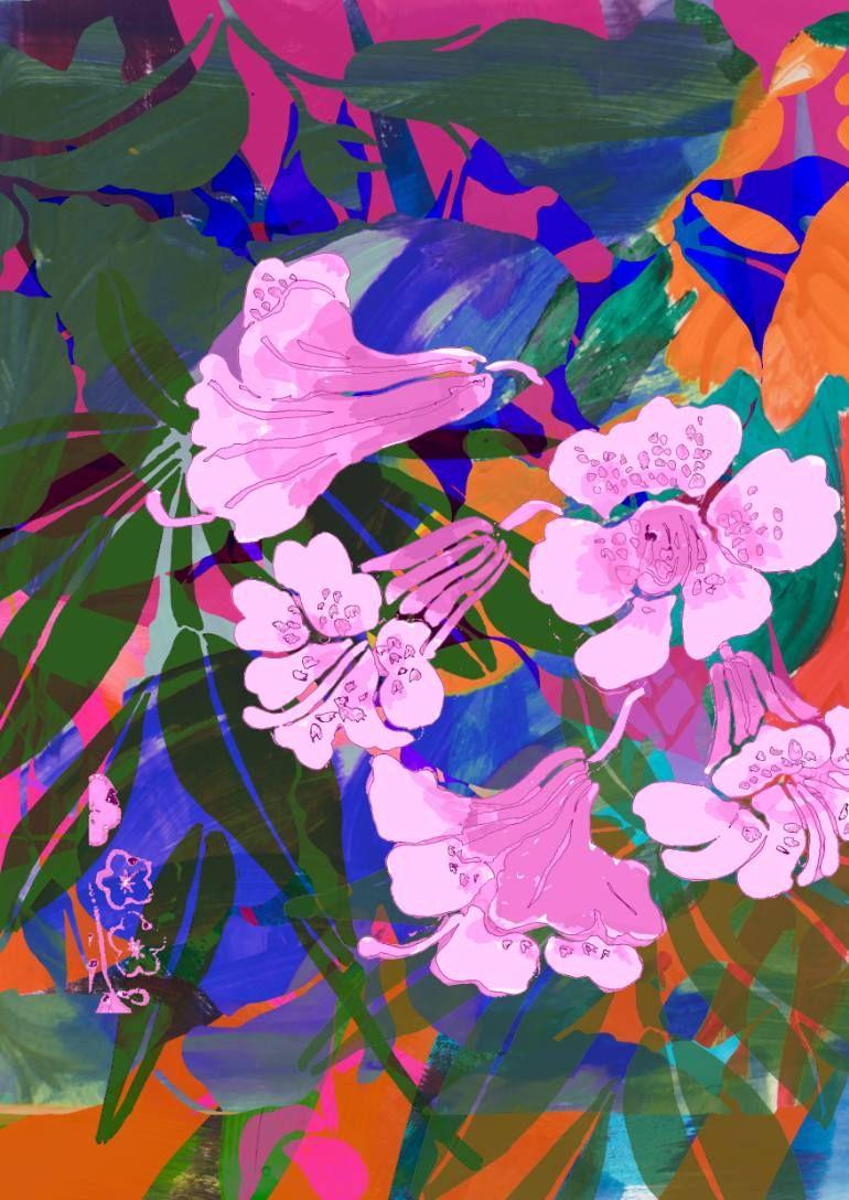 "Saatchi Art Artist Sisters Gulassa; Painting, ""Jungle Bright Orange by Lise"" #art"