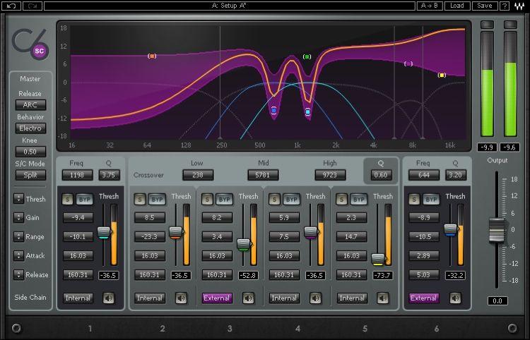 Waves C6 Multiband Compressor Plug In Waves Plugins Waves Audio Audio