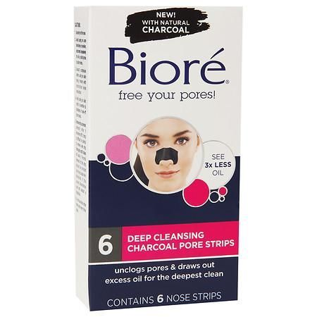 Biore Deep Cleansing Charcoal Pore Strips In 2019 Pore Strips