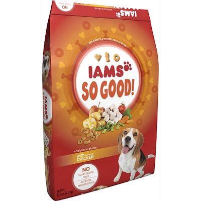 Iams So Good Dog Food Dog Food Recipes Iams Savory Chicken