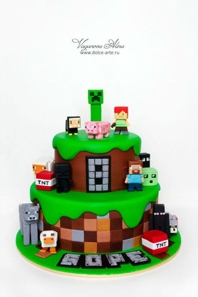 Torta Minecraft 4 Jpg 650 215 975 Tortas Decoradas Pinterest