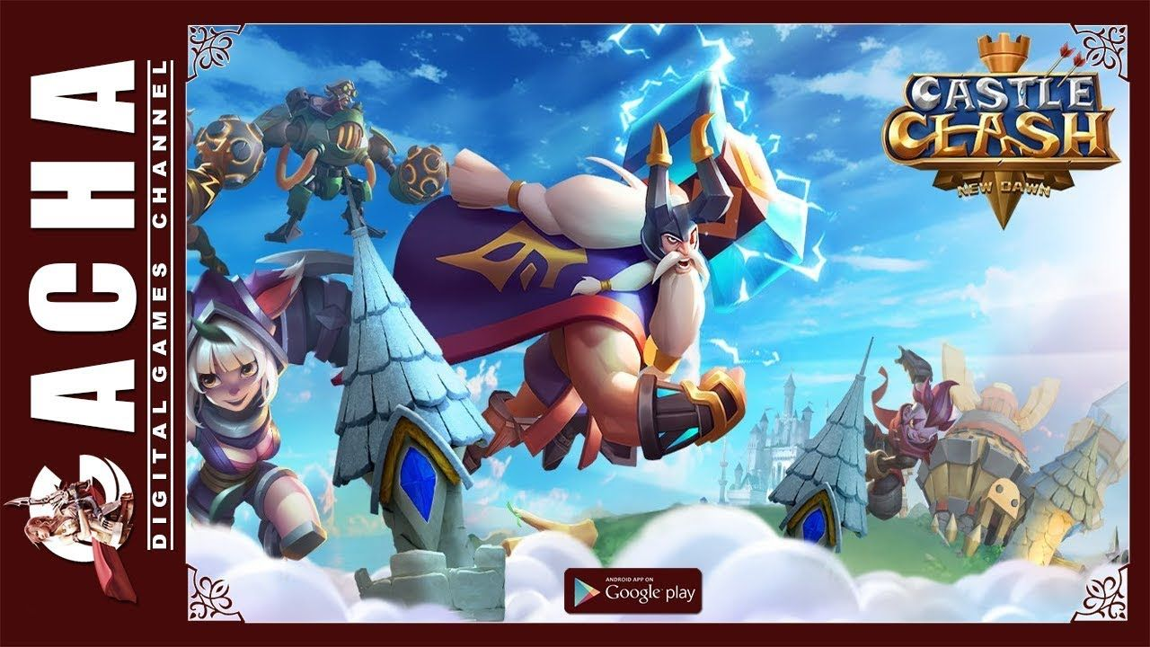 Castle Clash New Dawn 🇺🇸 EN 📱 Android 🎮 Game Review