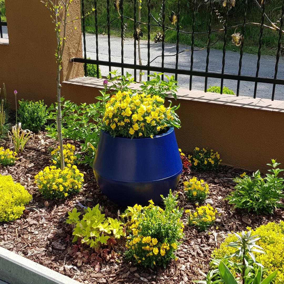 Niebieska Doniczka Aurora Okragla Donica Ogrodowa Planters Planter Pots Plants
