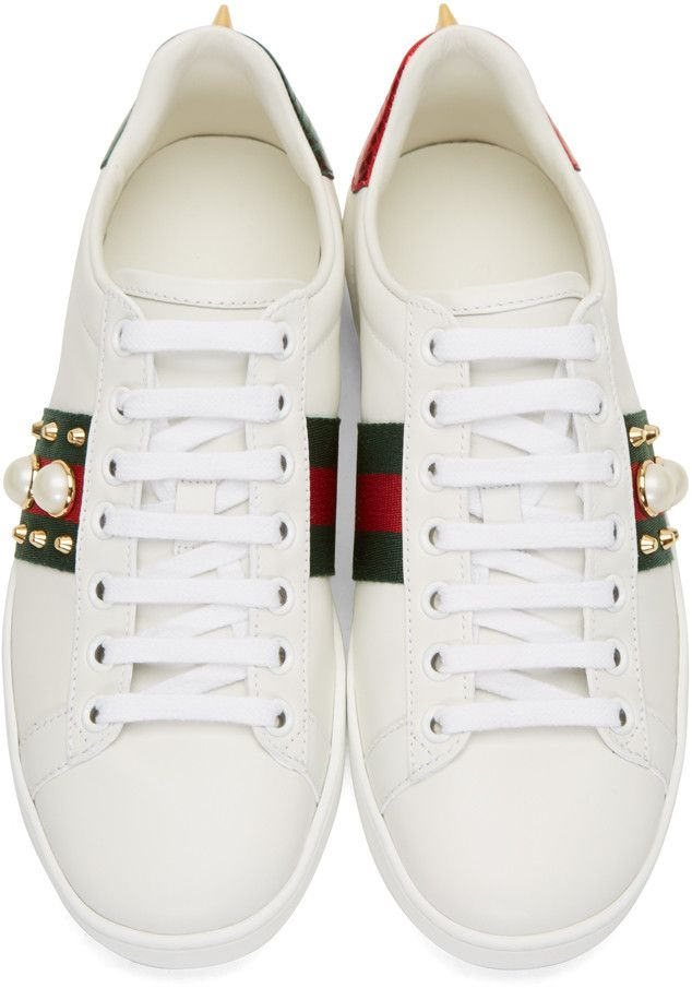 af30803fa7b Gucci - White Studded Ace Sneakers