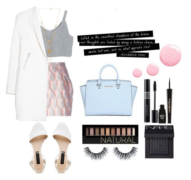 """""""Sin título #105"""" by freewingsoul ❤ liked on Polyvore featuring MSGM, MICHAEL Michael Kors, Forever New, Topshop, Forever 21, NARS Cosmetics, Napoleon Perdis, Maison Margiela and MANGO"""