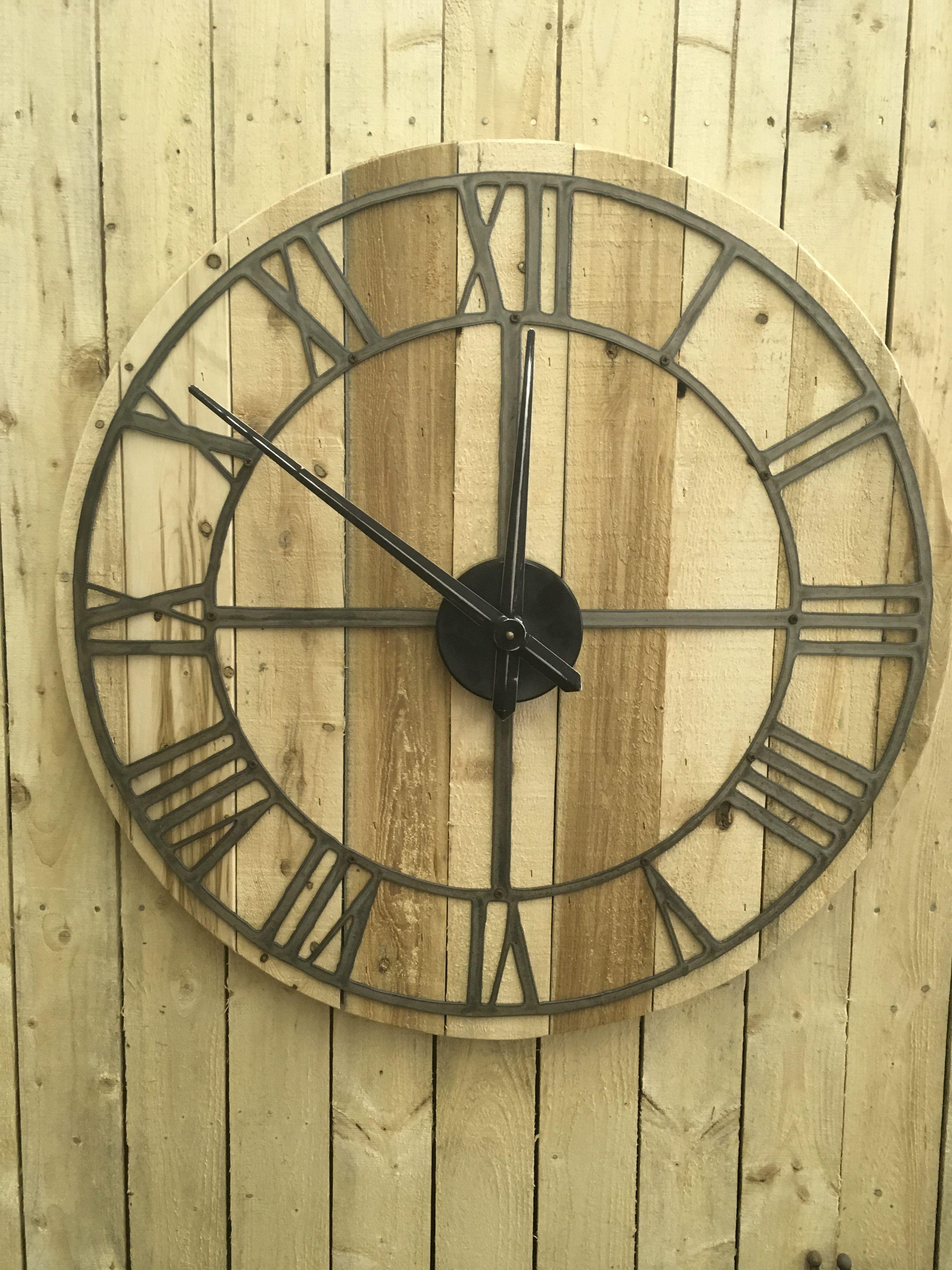 Rustic Roman Numeral Clock #rusticclock #clock #rustydecor ...