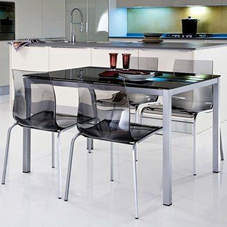Table rectangulaire + allonge - L120/180xl80xH75cm FIONA | 倫 倫 倫 ...