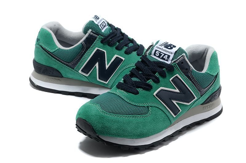New Arrivals Mens New Balance 574 WL574NT Green Grey White