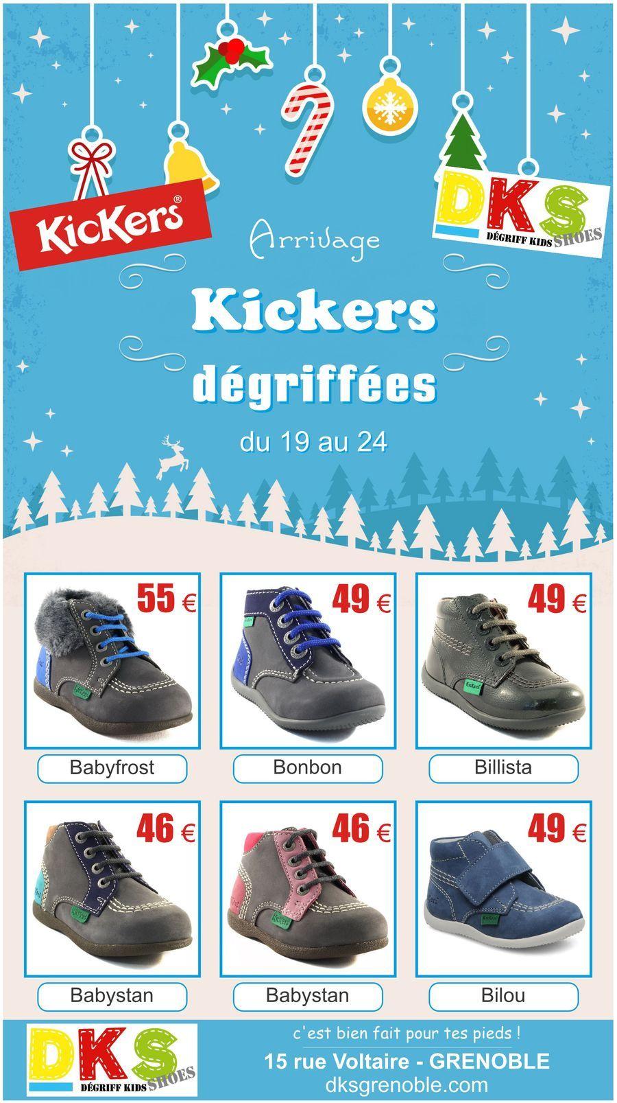 781366c62ef Arrivage de KICKERS hiver dégriffées à -30% bébé fille et garçon - du 19 au  24 DKS Degriff Kids Shoes  chaussures dégriffées pour  enfant à  Grenoble.  ...