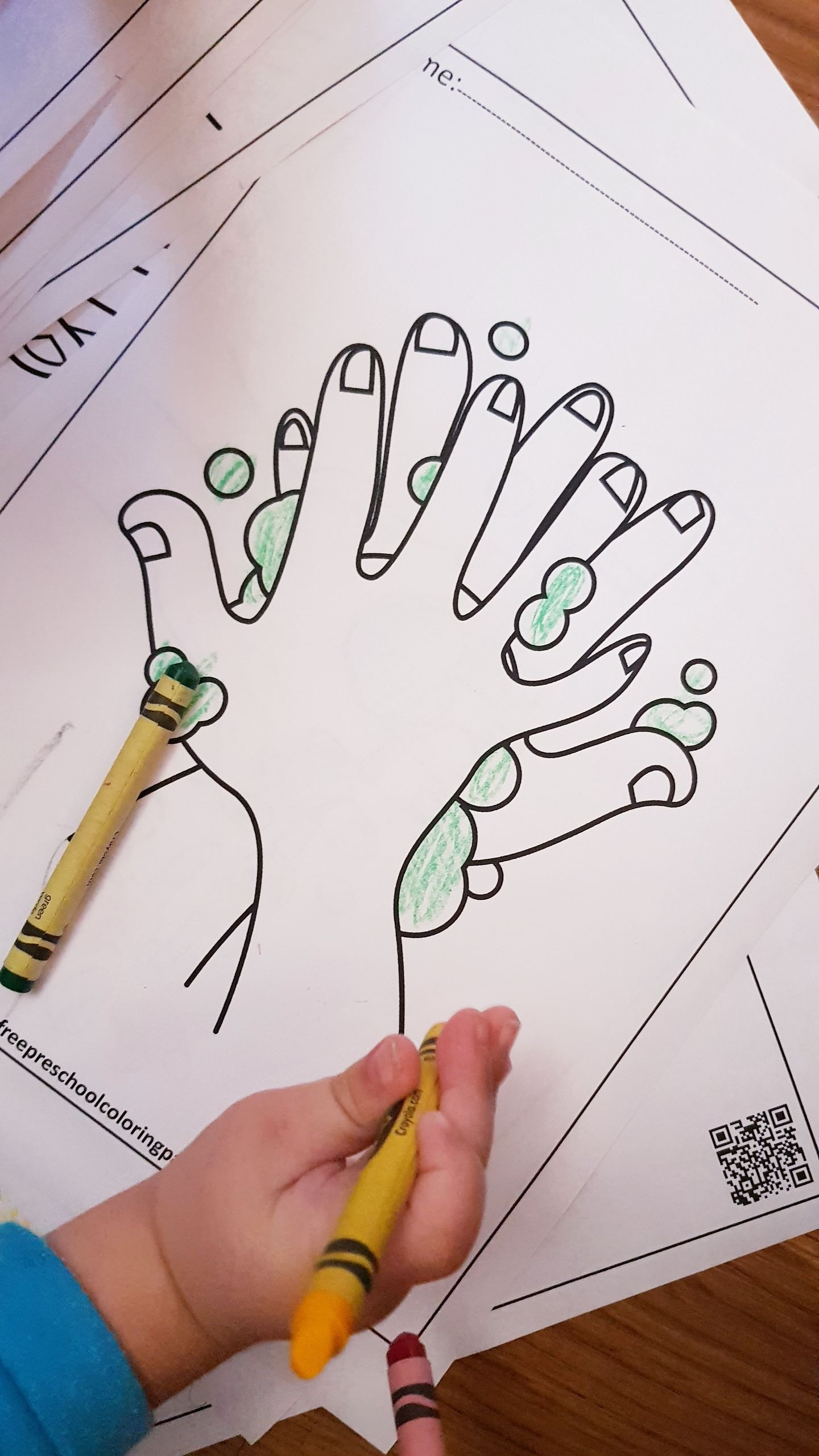 Hand Washing And Germs Activity For Kids In