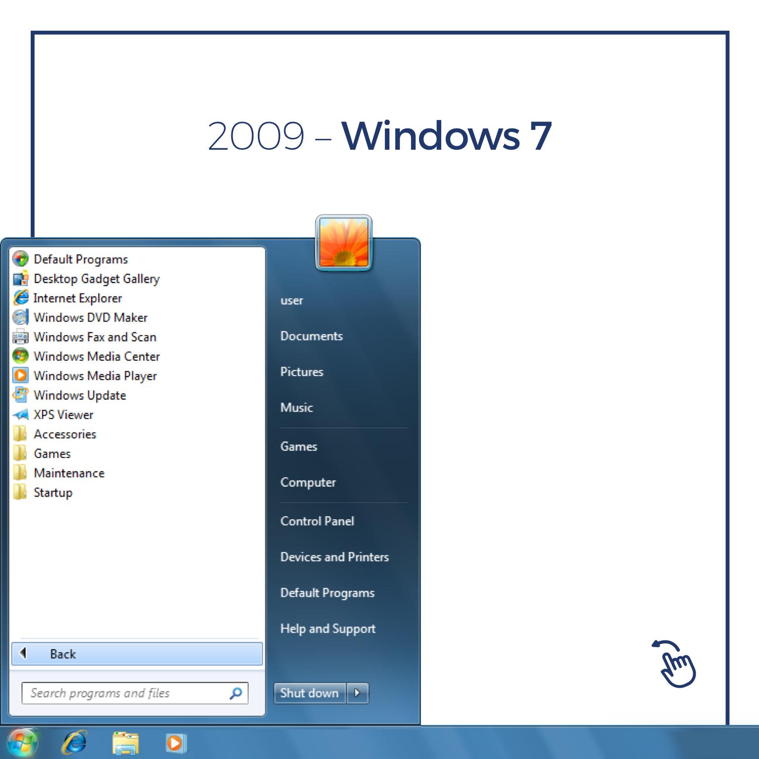 The evolution of Windows start menu since 1995 to 2015