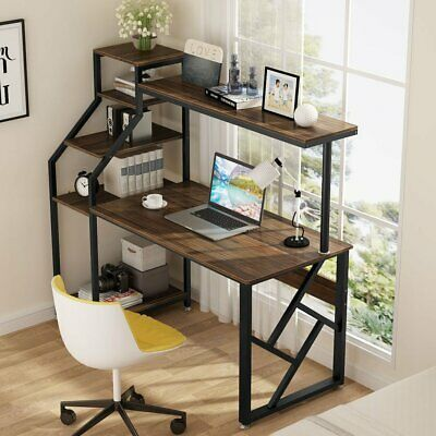 Details about Rustic Office Desk Computer Table Wo